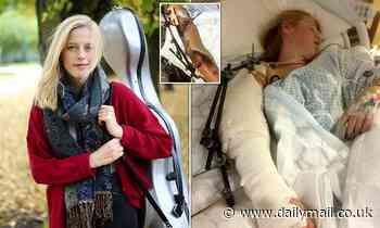 Cellist 'picked her arm off the road' after she was hit by lorry that turned into London cycle lane