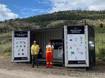 Town of Osoyoos receives upgraded used oil recycling infrastructure at their landfill - Penticton News - Castanet.net