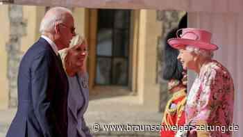 Joe und Jill Biden von der Queen empfangen