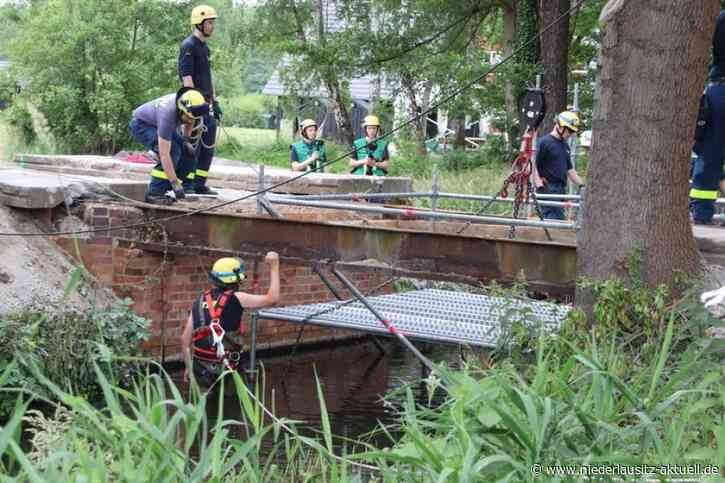 Nach Baumsturz: Vorübergehende Brücke in Burg errichtet