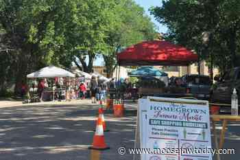Homegrown Farmer's Market kicks off season with big crowds on Langdon Crescent - moosejawtoday.com
