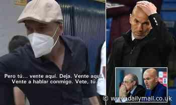 Zinedine Zidane clashes with Spanish reporter in fiery exchange