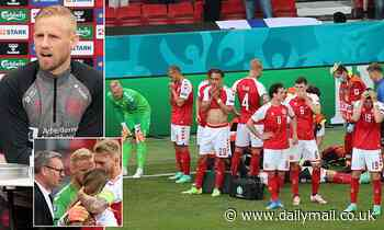 Christian Eriksen: Kasper Schmeichel reveals Denmark star smiled and laughed during hospital visit