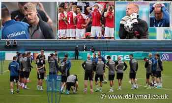 Denmark players train for the first time since Christian Eriksen's cardiac arrest