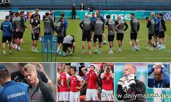 Euro 2020: Denmark players train for the first time since Christian Eriksen's cardiac arrest