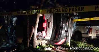 Un fallecido y otro lesionado tras accidente en carretera a Santa Ana - Solo Noticias