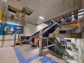Estação Faria Lima do Metrô ganha nova escada rolante - Via Trolebus