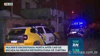 Uma mulher morreu ao cair de uma escada em São José dos Pinhais - RIC Mais