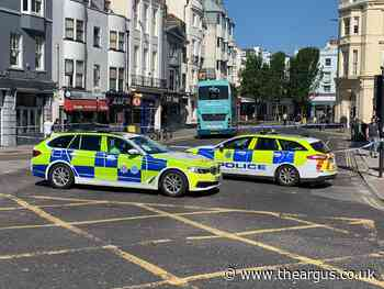North Street in Brighton closed after woman hit by bus