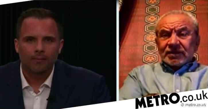 Alan Sugar squirms at Dan Wootton's 'stupid question' during car crash GB News launch