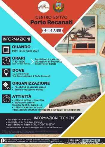 Porto Recanati, il 1 luglio parte il centro estivo - Il Cittadino di Recanati