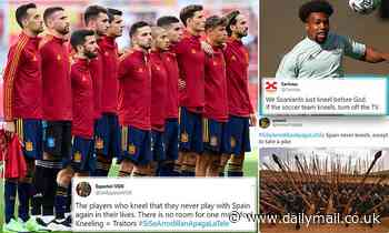 Euro 2020: 'If they take a knee, turn off the TV' trends on Twitter in Spain