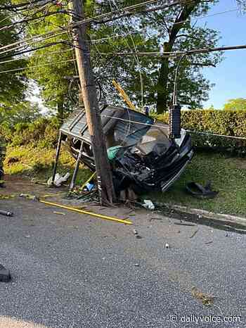 Car Wrecked When It Slammed Into Utility Pole In Harrisburg - Daily Voice