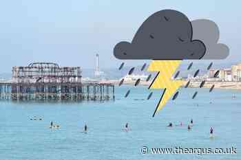Weather warning as thundery showers set to hit Brighton