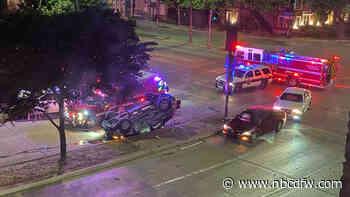 3 Injured in Downtown Dallas Rollover Crash - NBC 5 Dallas-Fort Worth