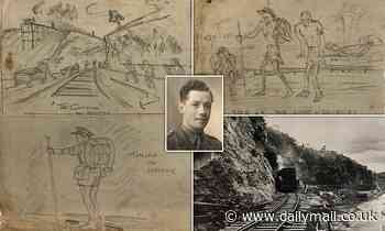 British captain's secret sketches depict plight of PoWs forced to build Burma's 'death railway'