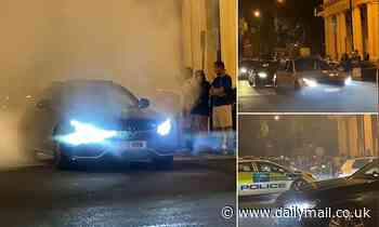 Pall Mall misery: Dozens of boy racers cause chaos in central London with Maseratis and Mercedes'