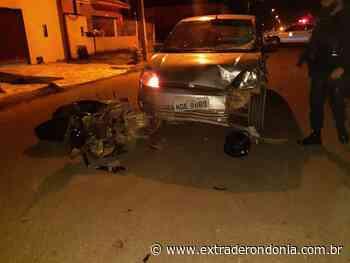 Motociclista é levado ao hospital após colidir com carro em Vilhena – Extraderondonia.com.br - Extra de Rondônia