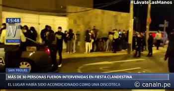 San Miguel: Unas 30 personas fueron intervenidas en fiesta clandestina - Canal N