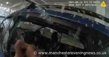 Police smash windows to rescue dog left inside boiling hot car