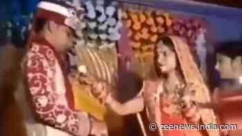 Calm down bhabhi! Bride gets impatient, throws food on groom`s face, viral video