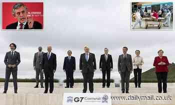 Gordon Brown blasts G7's 1billion Covid vaccine dose pledge for poor countries as a 'moral failure'