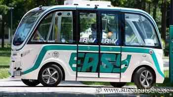 Pilotprojekt: Minibus fährt autonom auf öffentlicher Straße - Süddeutsche Zeitung
