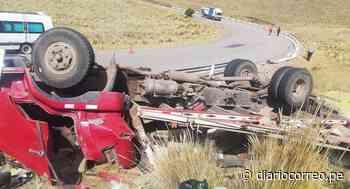 Despiste de camión deja dos muertos en la vía Santa Rosa-Nuñoa - Diario Correo