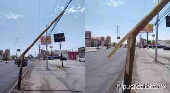 Denunciaron poste a punto de caerse en la Ejército Nacional - Puente Libre La Noticia Digital