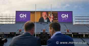 Graham Norton takes over New Zealand's national sports stadium to mix wine