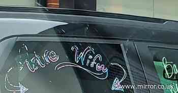 Bride-to-be puts PayPal details on car and asks strangers to fund wedding