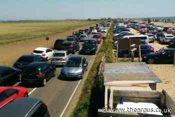 Drivers urged not to 'put lives at risk' by parking in road by Camber Sands beach, Sussex