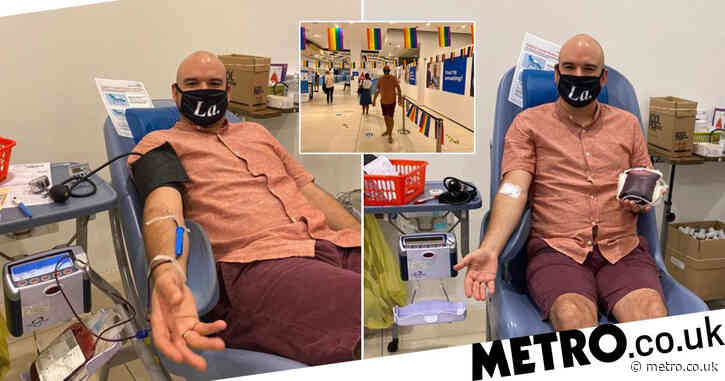 'Historic day': Gay man gives blood 20 years after running away from donor centre