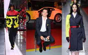 Ferrari sempre più 'fashion': sfilata di alta moda a Maranello con Leclerc e Sainz. FOTO - Sky Sport