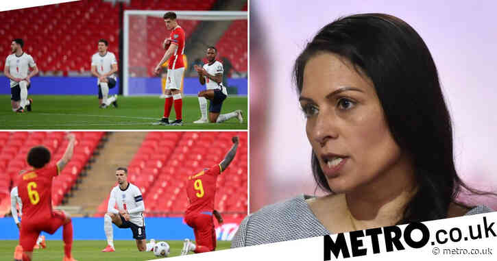 Priti Patel says England fans have right to boo players taking the knee