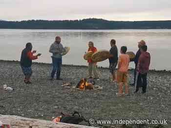 Video shows whales joining Indigenous ceremony to honour 215 dead children