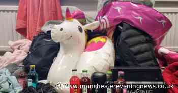 Inflatable unicorn, WKD bottles and speakers seized from teens at quarry
