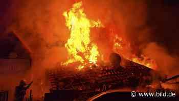 Friedrichsdorf: Polizei jagt Brandstifter: Hier fackelt ein Haus ab - BILD