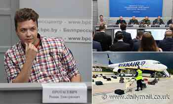 'Tortured' Belarusian activist dragged off Ryanair flight is paraded at press conference in Minsk