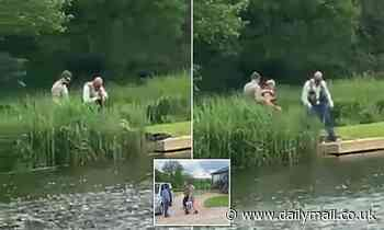 Paul Gascoigne, 54, is dragged from the banks of a fishing lake