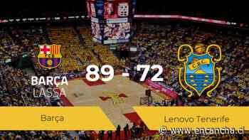El Barça se clasifica para la final tras ganar al Lenovo Tenerife por 89-72 - EnCancha.cl