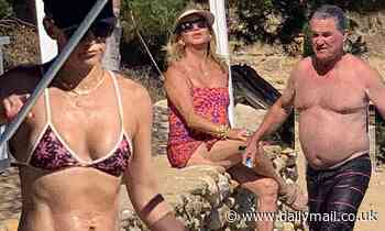 Kate Hudson and beau Danny Fujikawa are joined by her mom Goldie Hawn and Kurt Russell in Greece