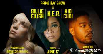 Amazon Prime Day Show: Watch trailer for music special featuring Billie Eilish, H.E.R. and Kid Cudi     - CNET