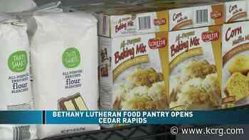 Bethany Lutheran Food Pantry opens in Cedar Rapids - KCRG