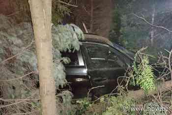 Auto begint te slingeren, raakt een auto en belandt uiteindelijk in een haag - Het Belang van Limburg