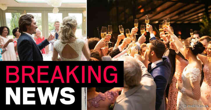 Wedding guest number limits to be lifted from June 21 despite lockdown extension