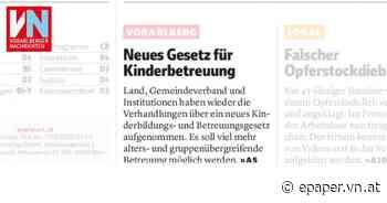 Neues Gesetz für Kinderbetreuung - Vorarlberger Nachrichten | VN.AT