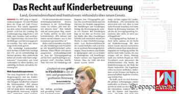 Das Recht auf Kinderbetreuung - Vorarlberger Nachrichten | VN.AT