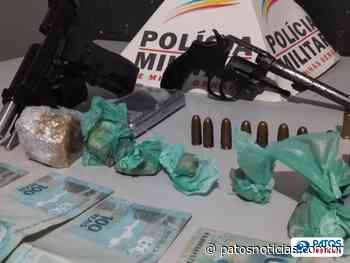 Casal é preso com armas e drogas no Bairro Alvorada - Patos Notícias