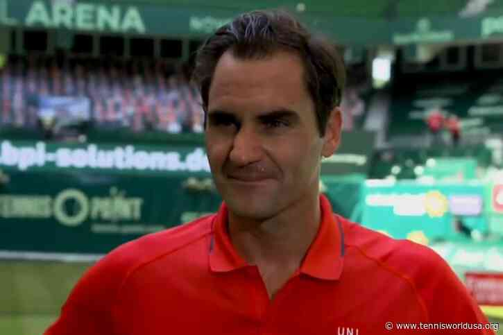 Roger Federer: 'It's great to win a match on grass after two years'